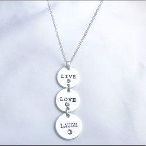 Jewelry - Live Love Laugh Chain Necklace Silver Chain 18inch